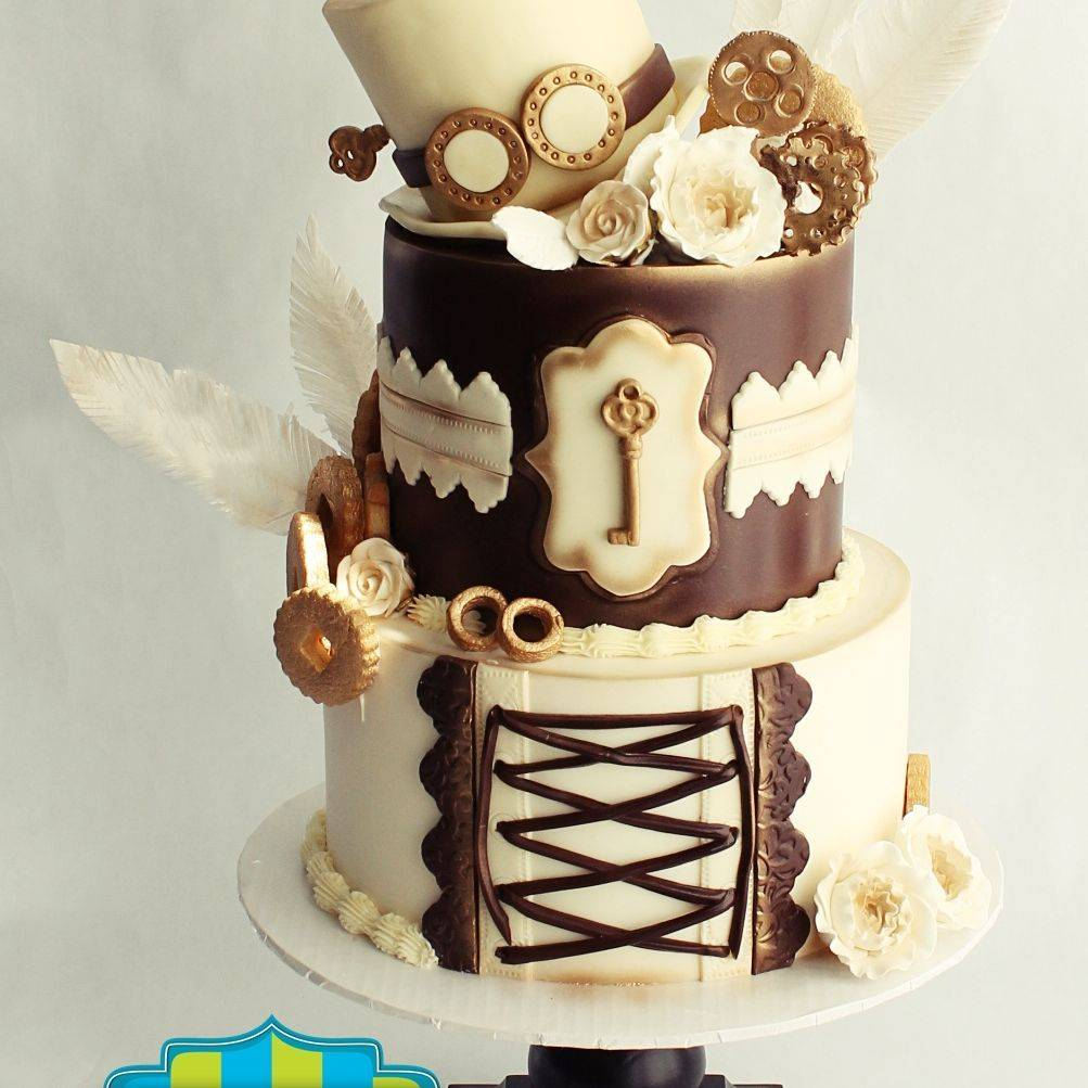 Steam Punk Wedding Cake Milwaukee