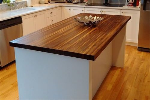 Walnut edge grain island counter top