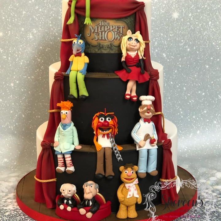 Birthday Cake Novelty Muppets Animal Chef Miss Piggy Kermit Fozzy Bear Beaker Statler Waldorf Gonzo