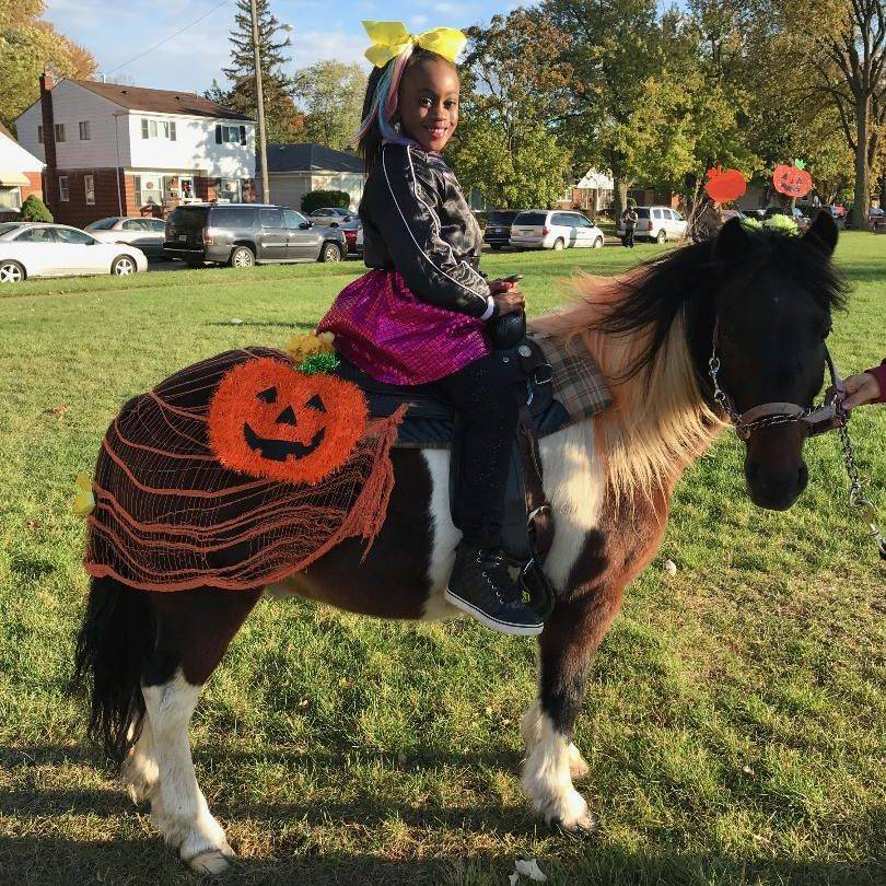 Pony dressed for Halloween