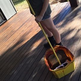 Staining a deck in Gunalda with our team from Gympie Home Handyman, Gardening & Maintenance Services