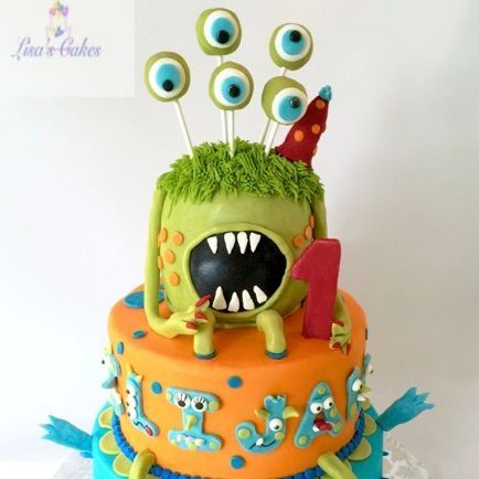 Monster First Birthday Cakes