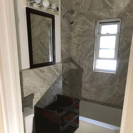 Bathroom remodel by Arcedo Construction