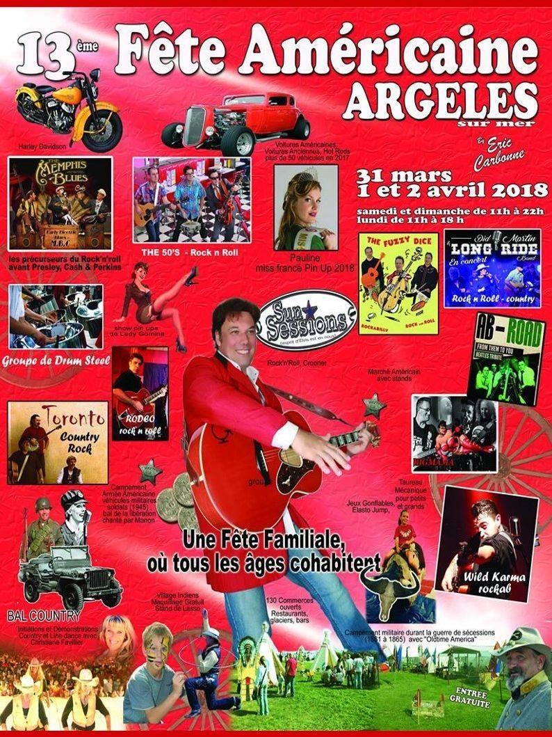 Concert LONG RIDE Fête Americaine Argelès-sur-mer