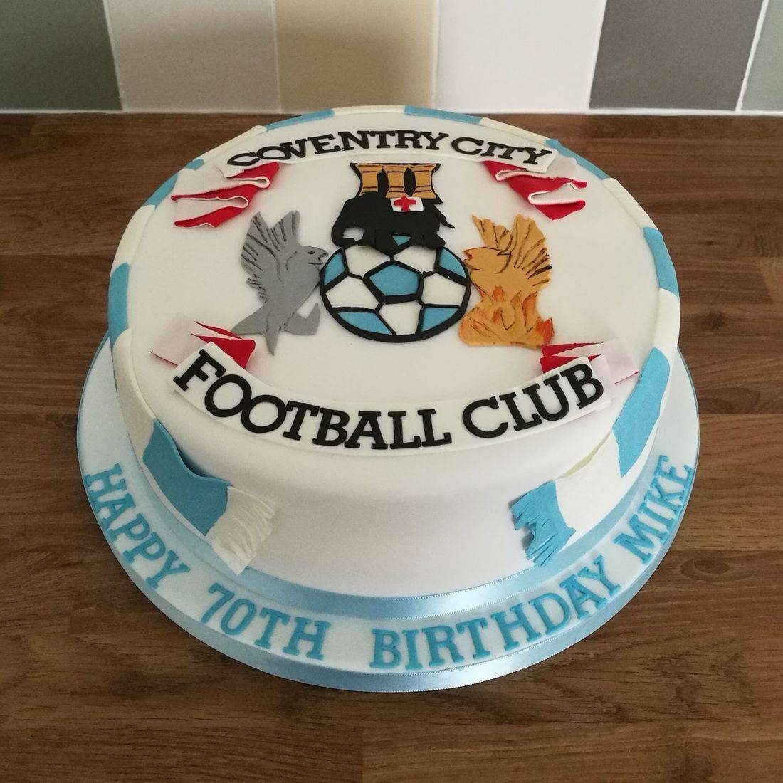 Coventry City Football Team Cake
