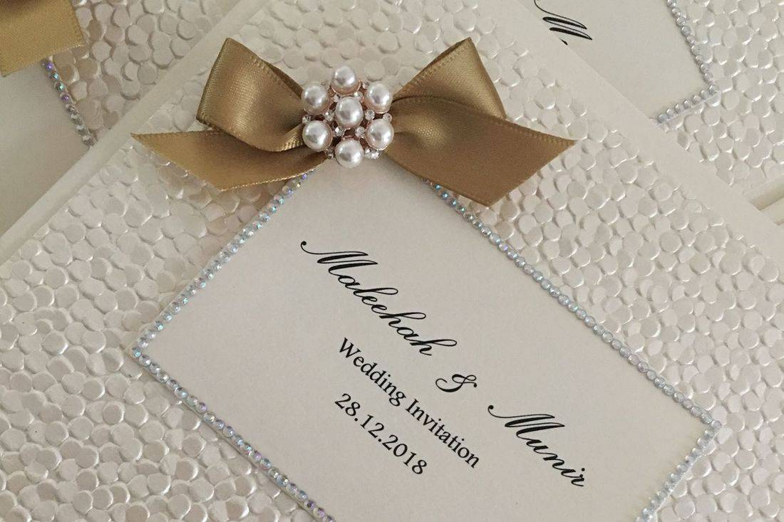 Wedding Invitations, Classic Fold Invitations, Handmade Wedding Invitations, Luxury Wedding Invitations