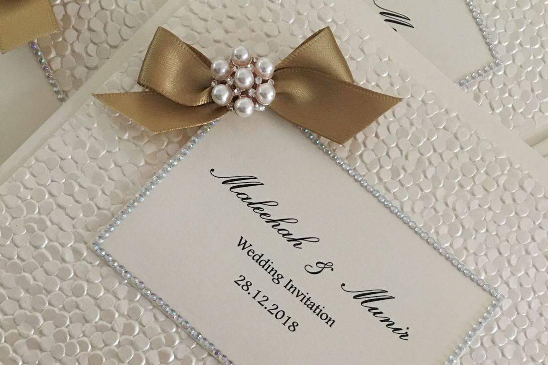 Wedding Invitations, Classic Fold Invitations, Handmade Wedding Invitations, Luxury Wedding Invitations