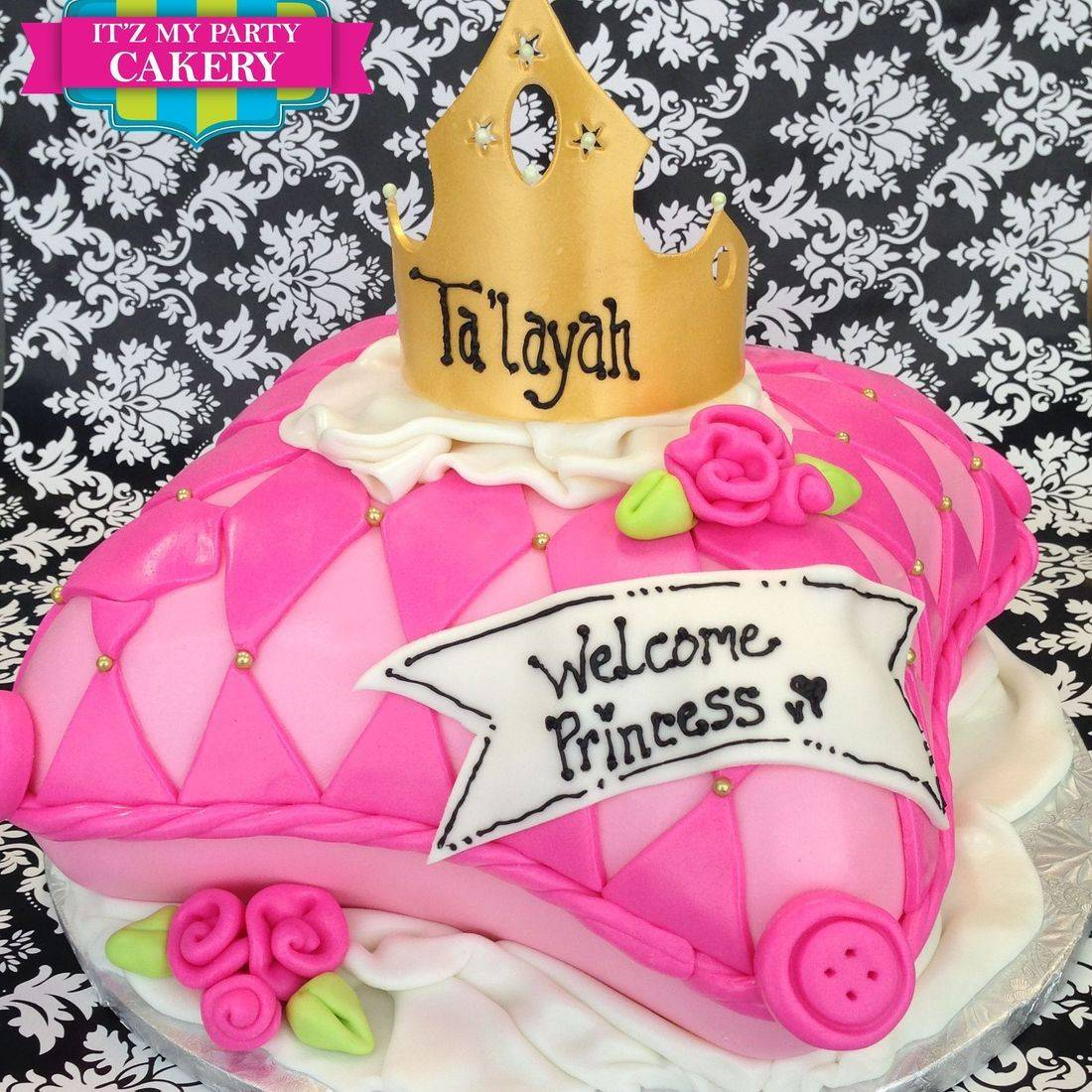 Princess Pillow Crown Cake Carved Dimensional Cake Milwaukee