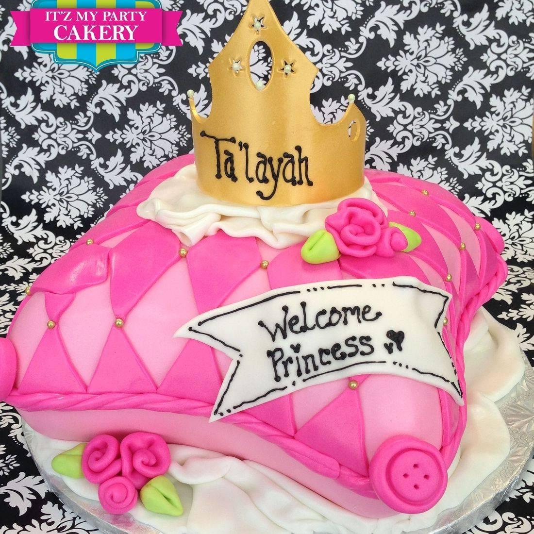 Princess Pillow Crown Cake Carved Dimensional Cake Milwaukee