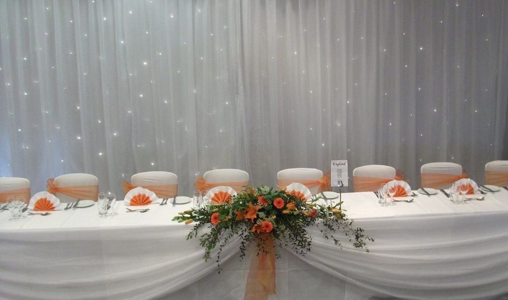 Top Table Swag Hire, Veneu Styling, Surrey, Hampshire