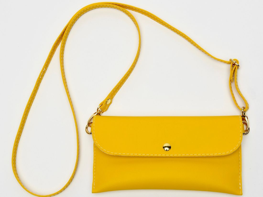 Yellow Crossbody Bag, iPhone Case, Crossbody wallet, small yellow purse, iPhone 7 case
