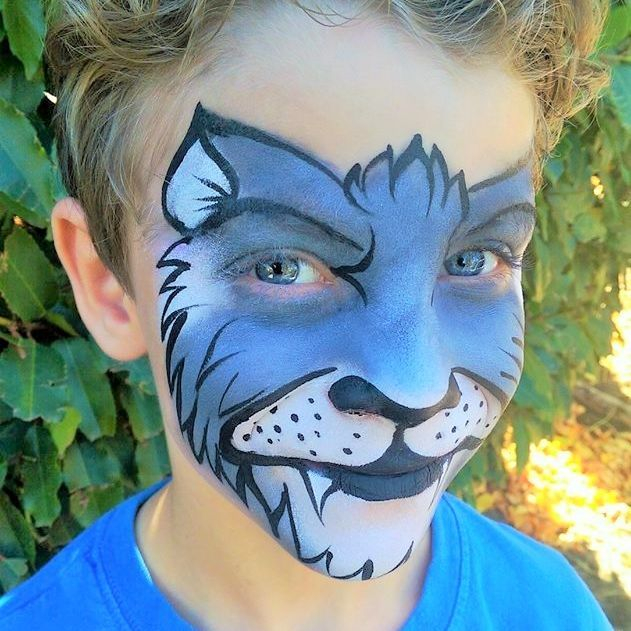 Boys party and event face painting for fun in Beaverton