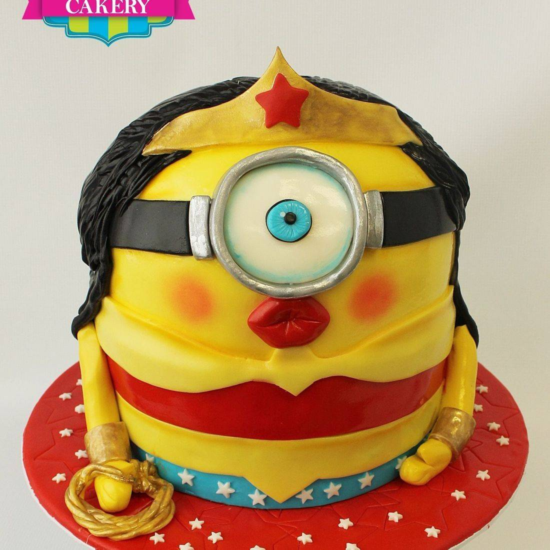 Wonder Woman Minion  Cake Carved Dimensional Cake Milwaukee