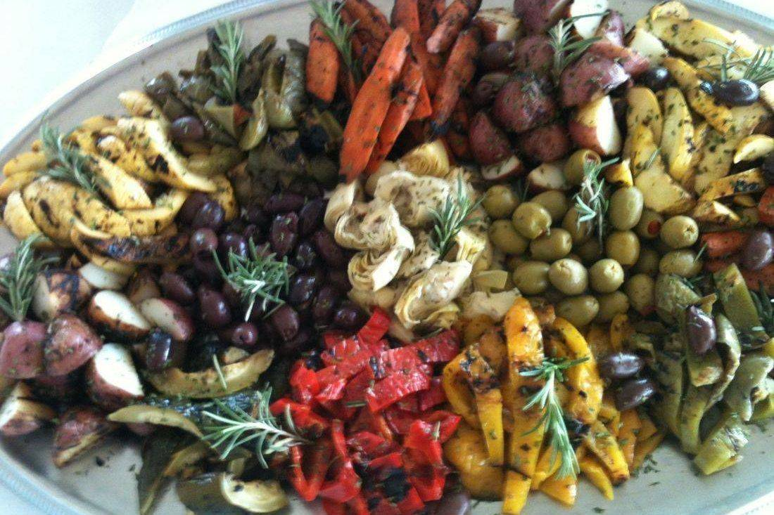 Chilled Mediterranean Roasted Vegetable Platter