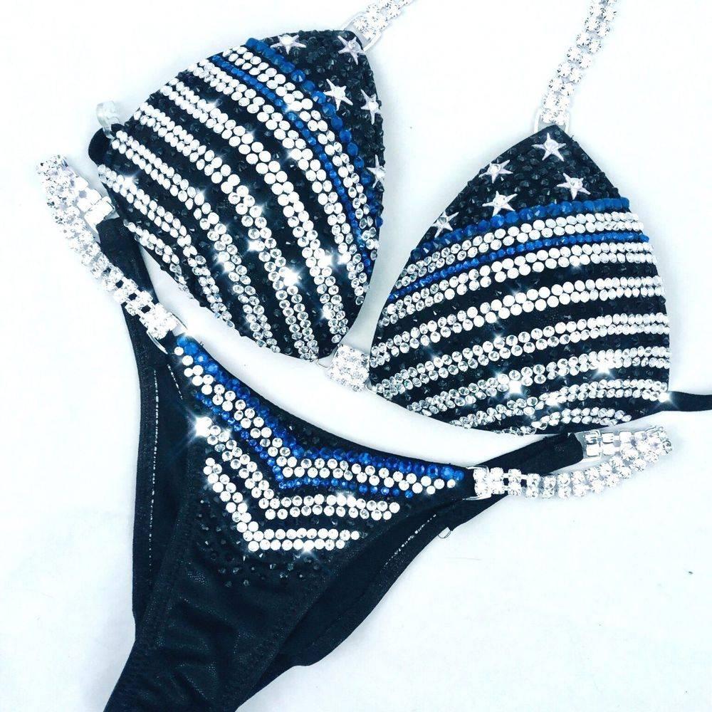 Thin Blue Line competition bikini