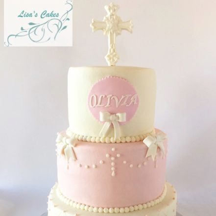 Baptismal Girl Cake