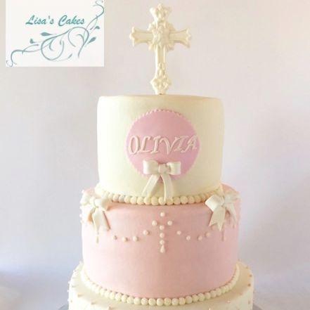 Baptismal Girl Cake