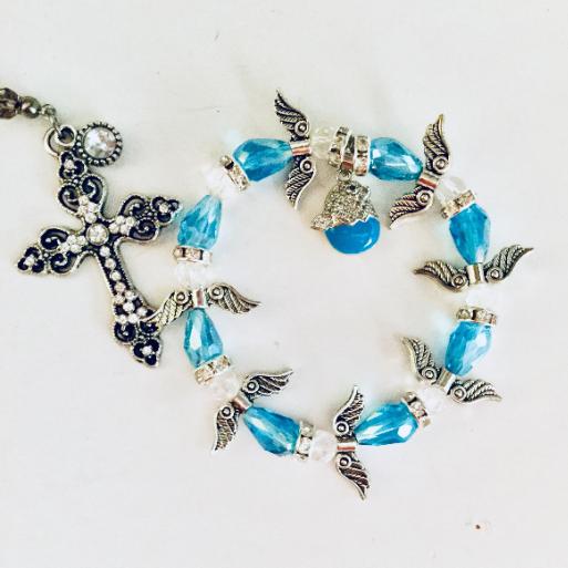Blue Crystal Angel Bracelet