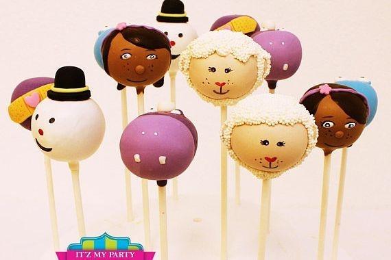 Doc McStuffins Cakepops Custom cakepops