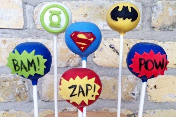 Superhero Cakepops Custom cakepops
