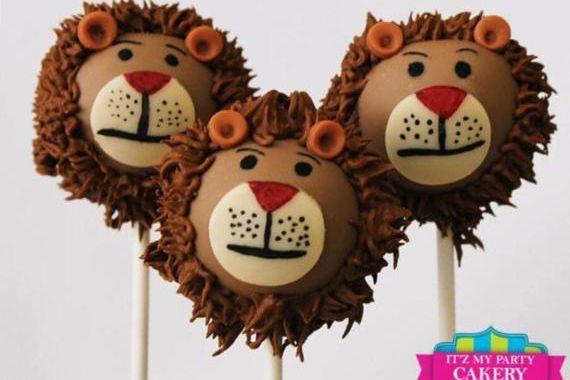 Lion Head Cake pops Custom cakepopsStars New Year Cake pops