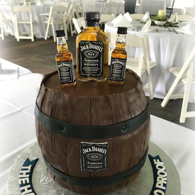 Jack Daniels Whiskey Barrel Cake