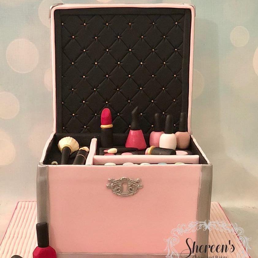 Make Up Cosmetic Box Birthday Cake