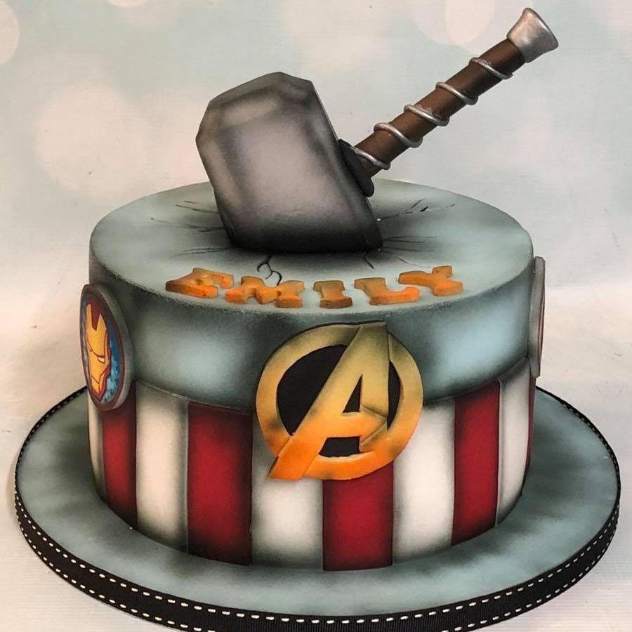 Avengers Thor Hammer Birthday Cake