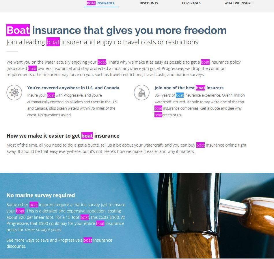 Progressive Boat Insurance