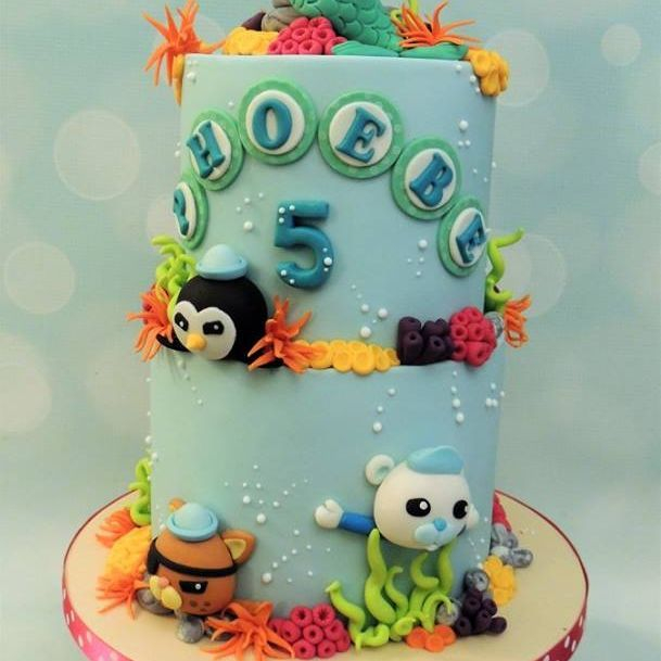 Mermaid Octonauts Birthday Cake Sea Seaweed Coral
