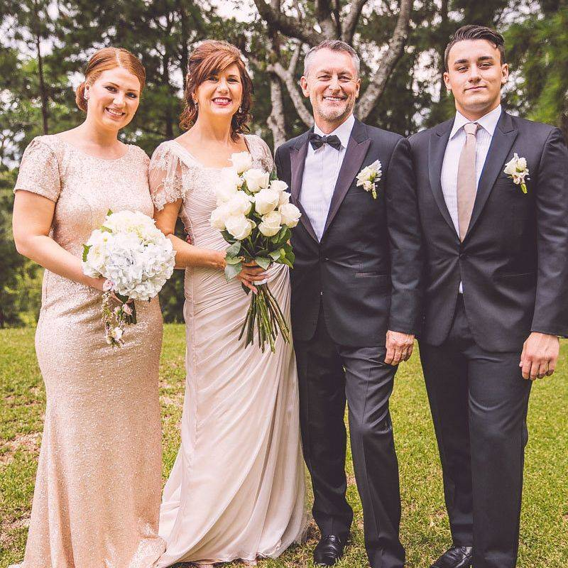 Bridal party for Julie and Neil