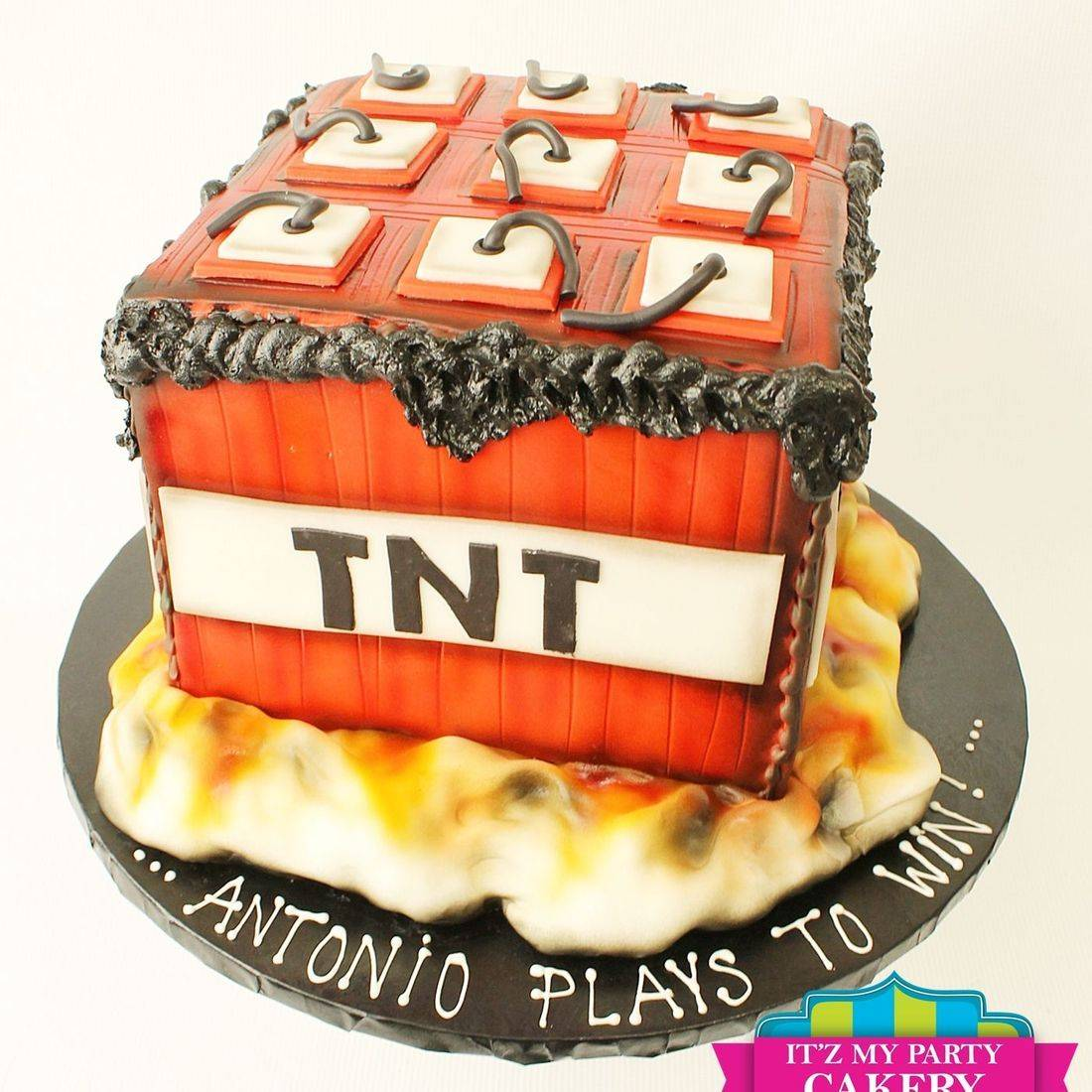 Custom TNT Explosion Cake Milwaukee