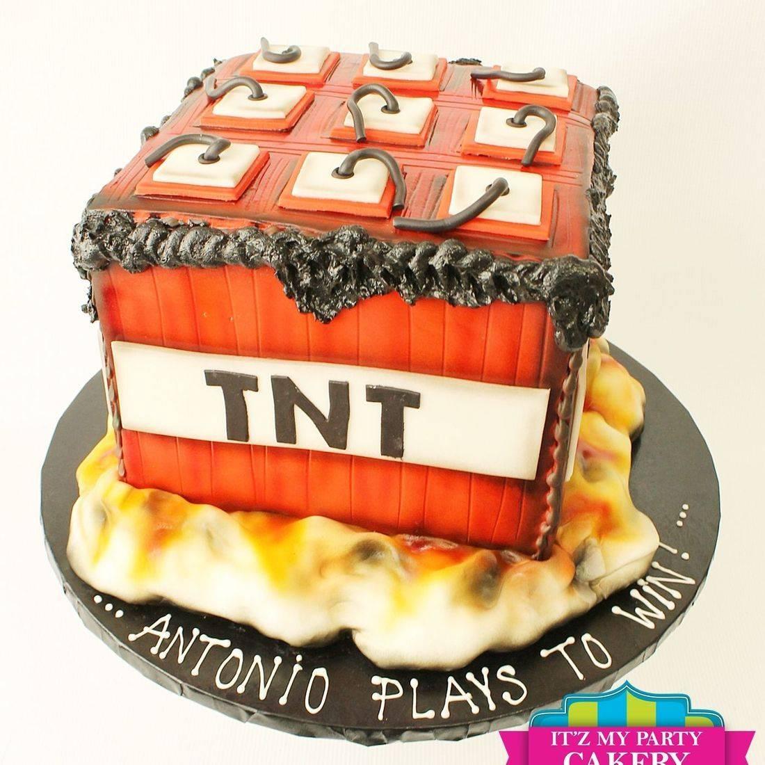 Custom TNT Explosion Cake Milwaukee