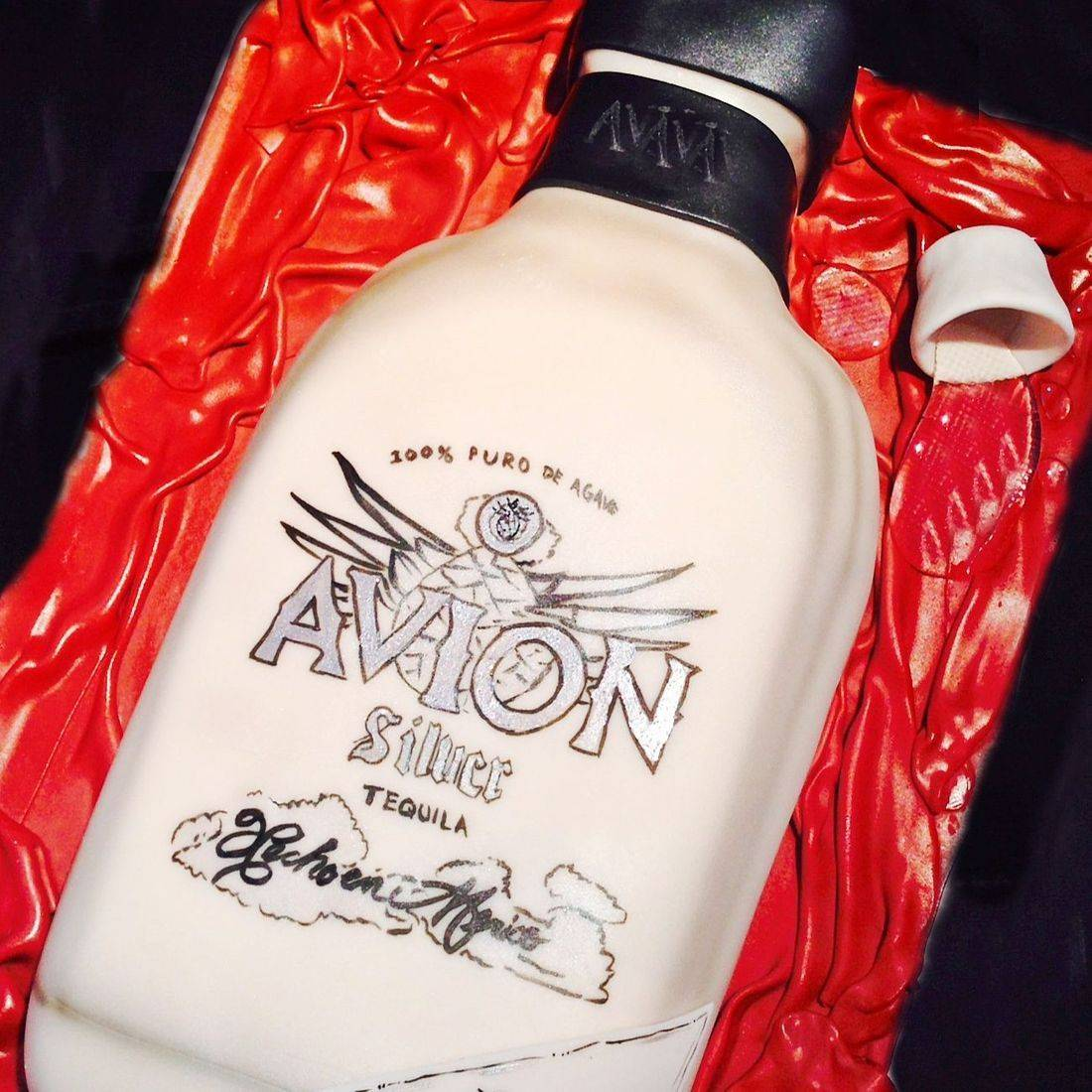 Avion Bottle  Carved Dimensional Cake Milwaukee