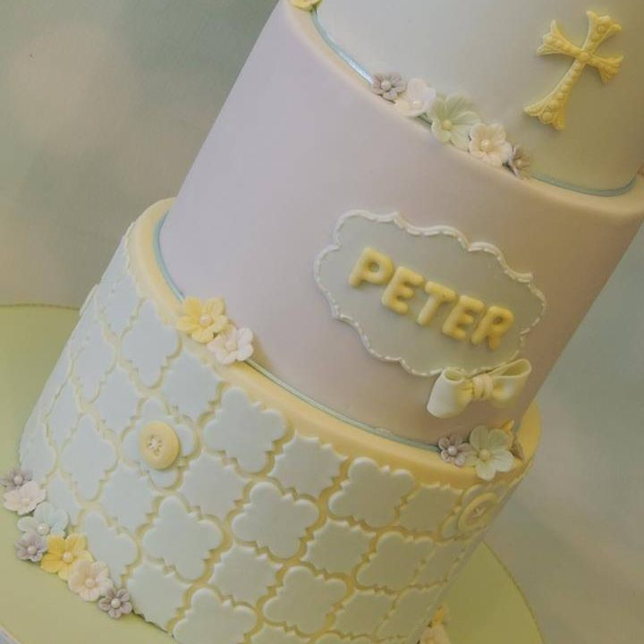 Peter Animals Hot Air Balloon Cake Christening Birthday Celebration Boy Yellow Blue