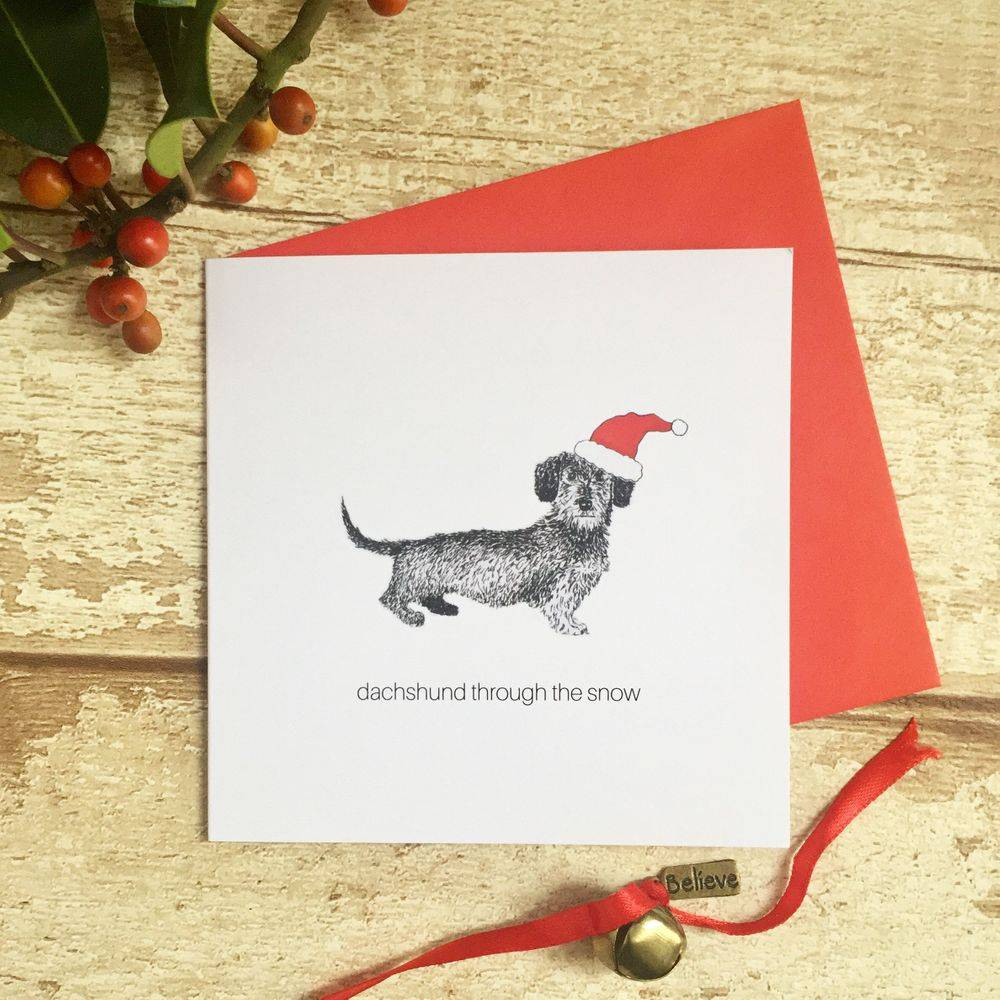 happy collie days funny witty humour Christmas Xmas card