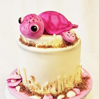 Custom Pink Sea Turtle Cake Milwaukee