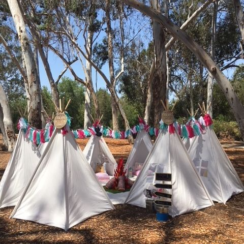 Kids party rentals, teepee rentals, party rentals, Newport Beach, Orange County, birthday, kids, birthday, teepee, sleepover, indoor, adventure, new, party, parties