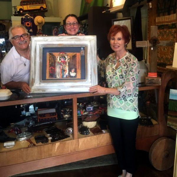 Heral Editor Fred Hernandez purchases Mexican Dievotional Art from La Boutique