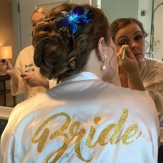 Bridal Hair updo for wedding
