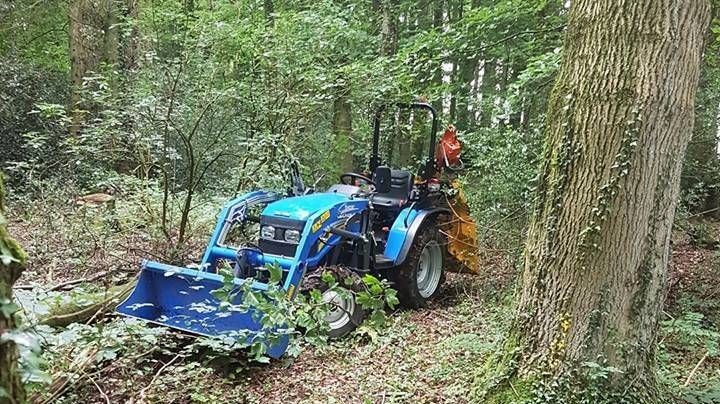 Woodland Management with the compact tractor