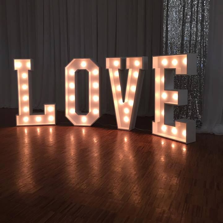 Wedding marquee letters for decoration