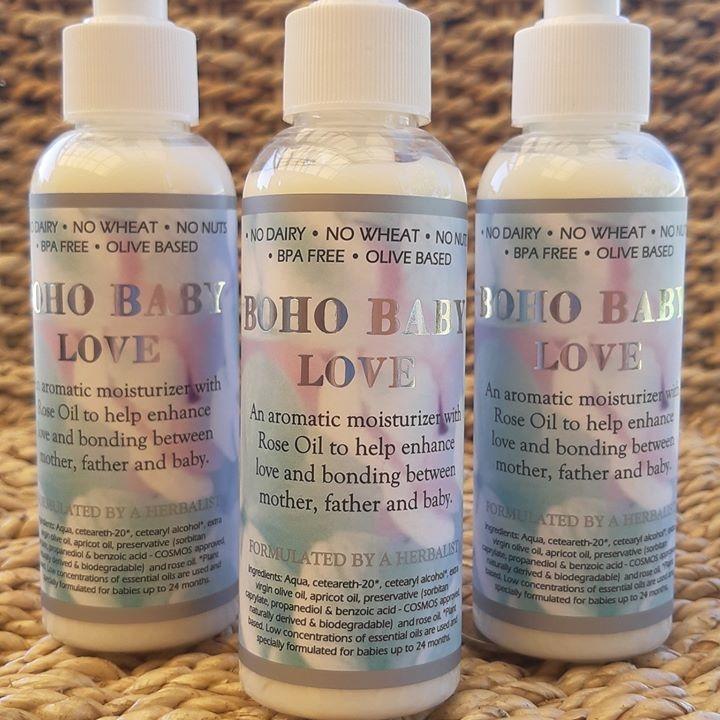 boho baby love rose moisturiser