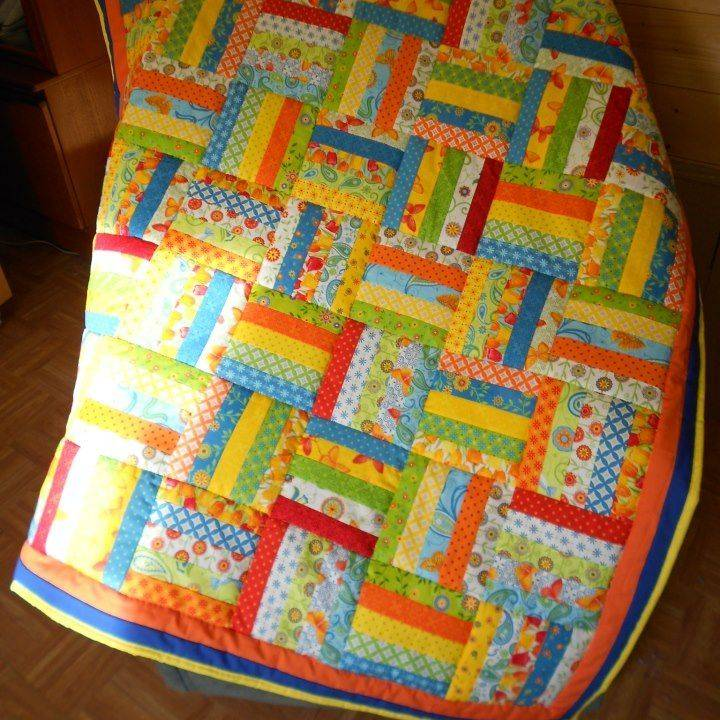 Vivid Jelly Roll Quilt