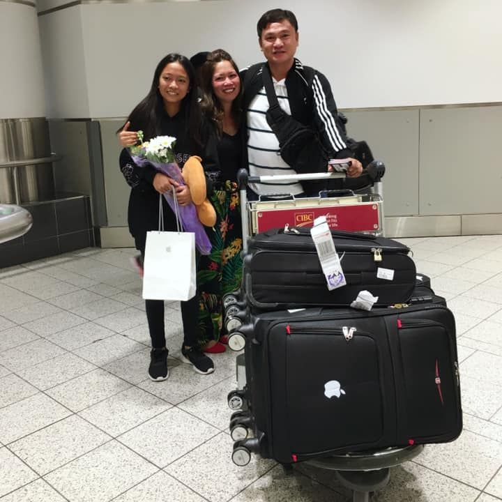 Lani and family reunited in Canada