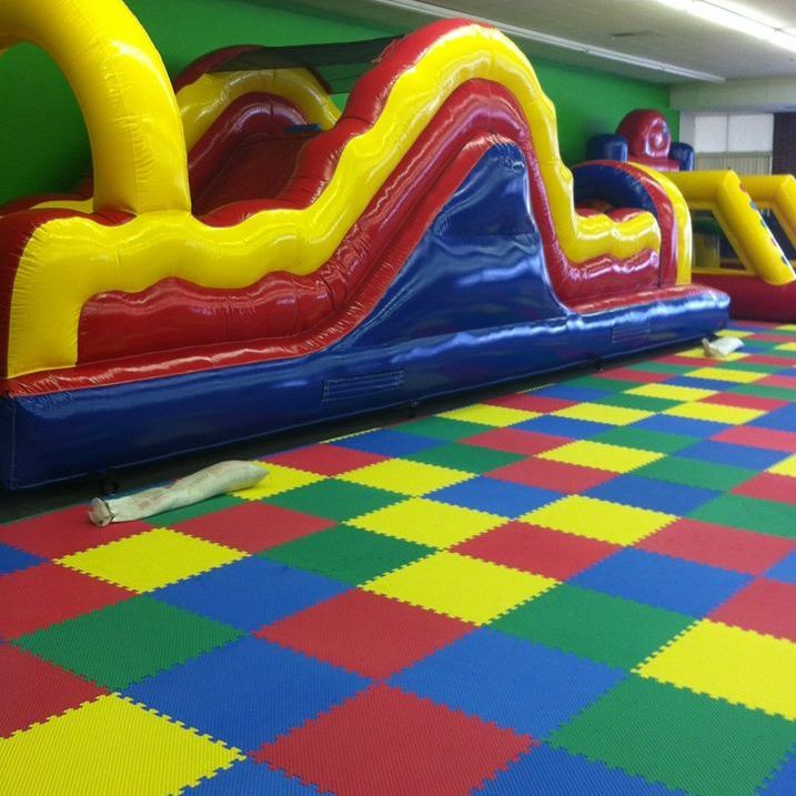 Climb up the wall and down the slide on this obstacle course for $150 plus delivery fee for 3 hours or all day $200 including delivery