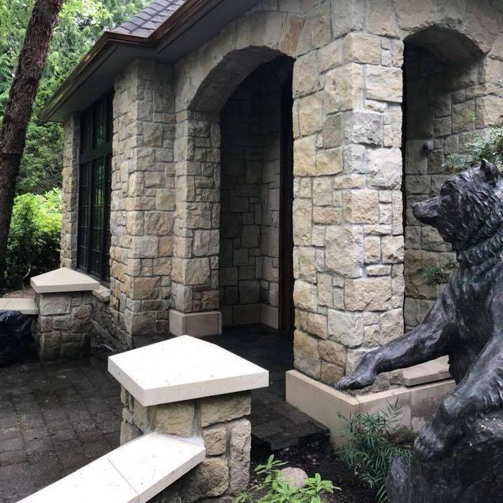 masonry, stone masonry, stone entryways, porticos
