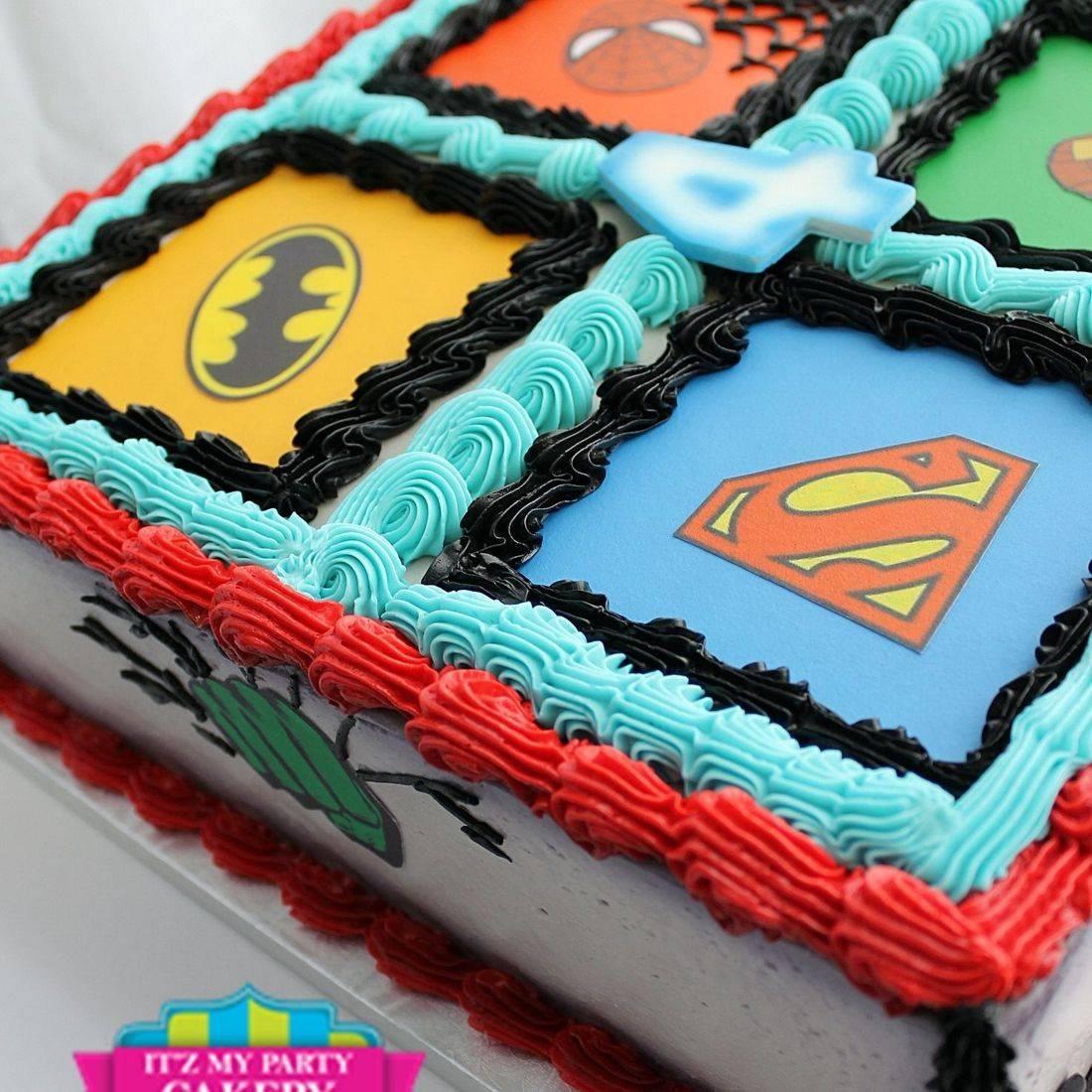 super heros stylized cakes milwaukee