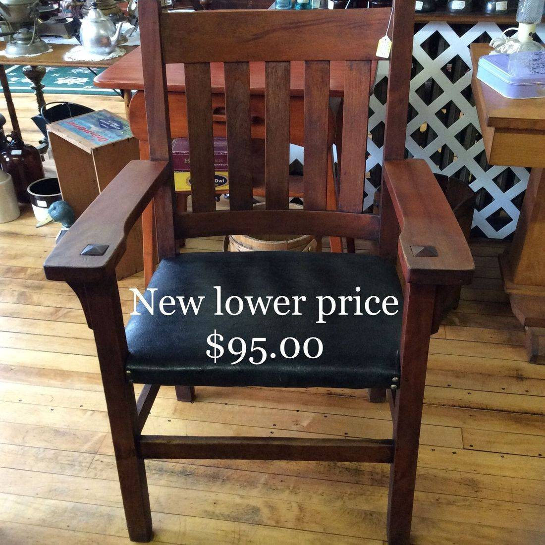 Early 1900's Arts 'N Crafts, Mission Style Oak Arm Chair  $95.00