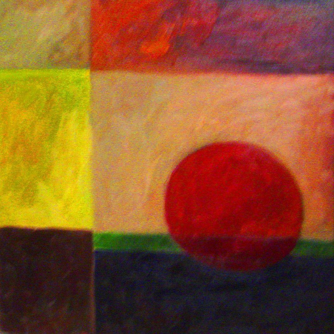 abstract painting harvest moon